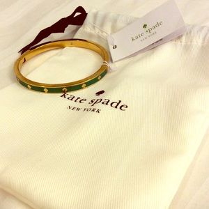 Kate Spade Green and Gold Bracelet